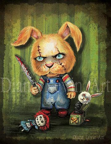 """Limited Edition """"Bucky"""" Chucky Bunny Print"""