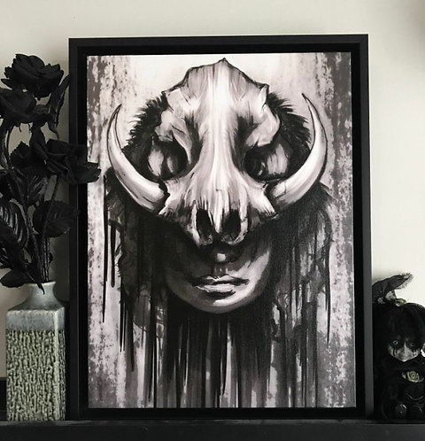 Moon Butcher Horror Canvas Print Diana Levin Art