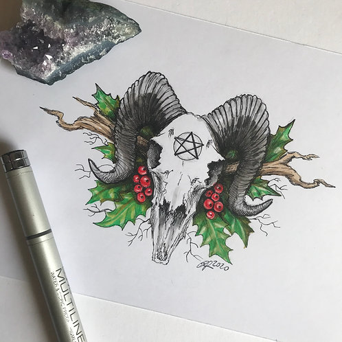 MistleSkull Original Drawing