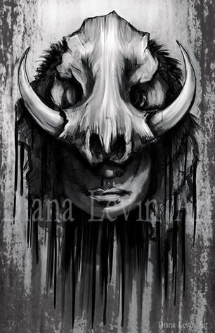 The Moon Butcher Horror Art