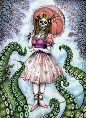 Haunted Mansion Tightrope Walker Art