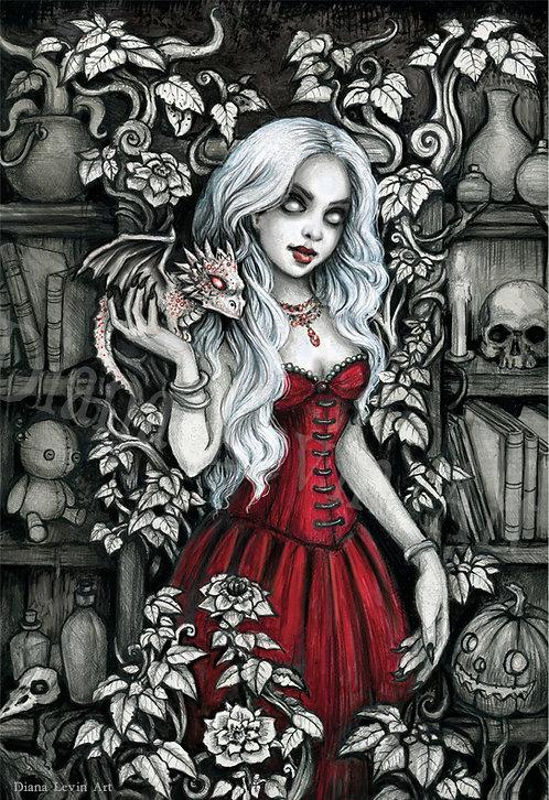 "Dragon Sorceress 11"" x 17"" Art Print"