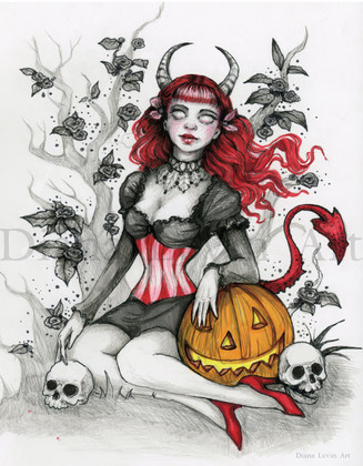 Devilish Halloween Art