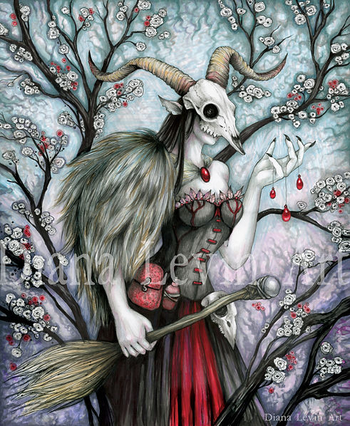 Krampus Witch Art
