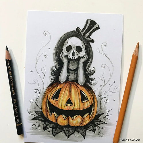 "Waiting  for October - 5"" x 7"" Art Print"