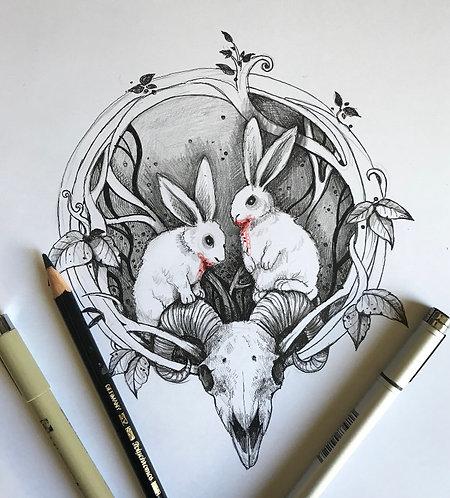 Don't Feed Them Original Drawing