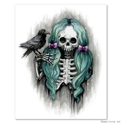 """Celeste Skully- 8"""" x 10"""" Art Print"""