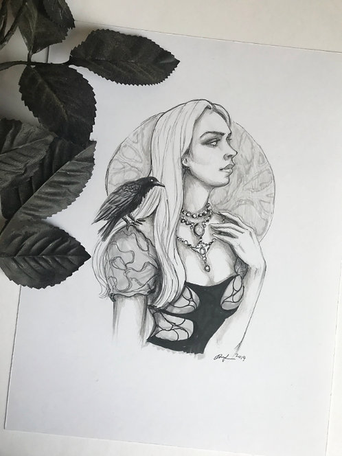 Abigail Original Drawing