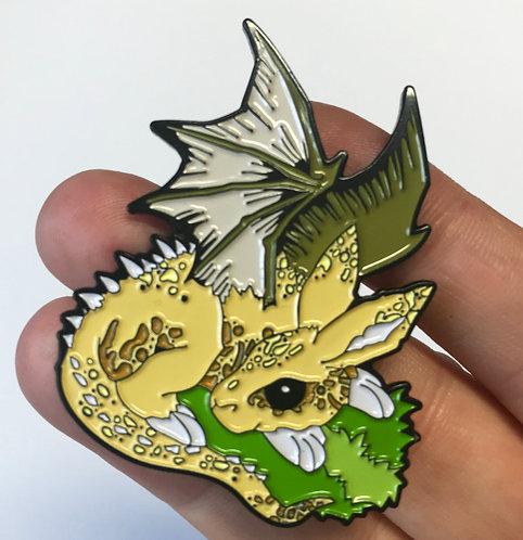 Dracobunny Enamel Pin