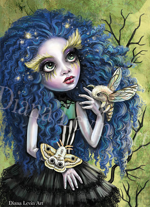"Moth Queen 11"" x 17"" Art Print"