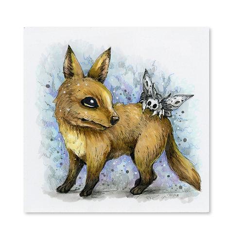 Curious Fox Original Drawing