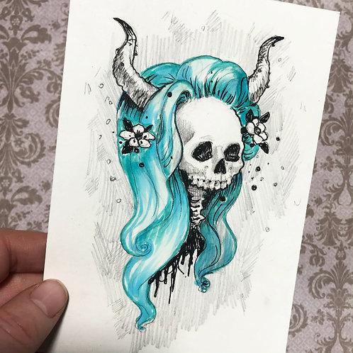 Miranda - Daily Skull Drawing Original