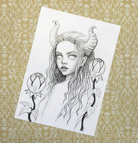 Demon Child Original Sketch