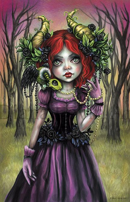 """CountessVee Horned Goddess 11"""" x 17"""" Art Print"""