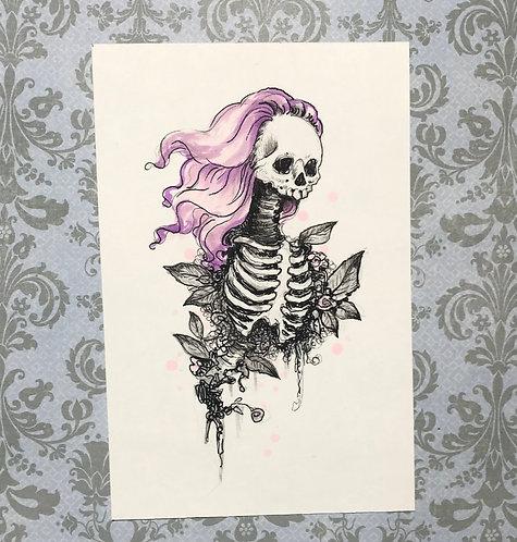 Hilda - Daily Skull Drawing Original