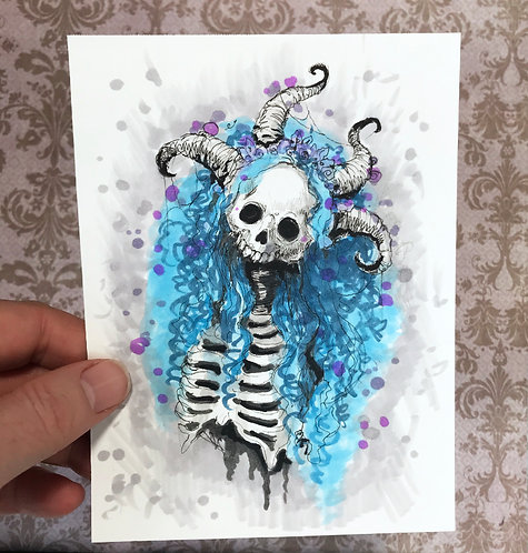 Sheedra - Daily Skull Drawing Original