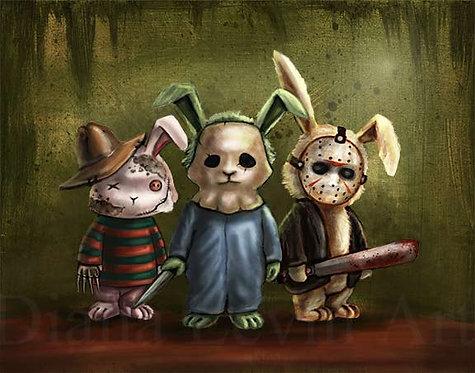 Horror Bunnies Art Print