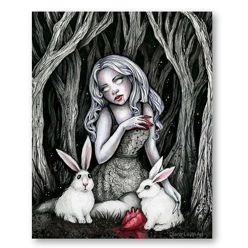 "Bunny Feast 11"" x 14"" Art Print"