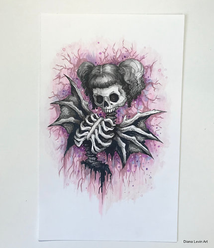 Chaotica Skully Original Drawing