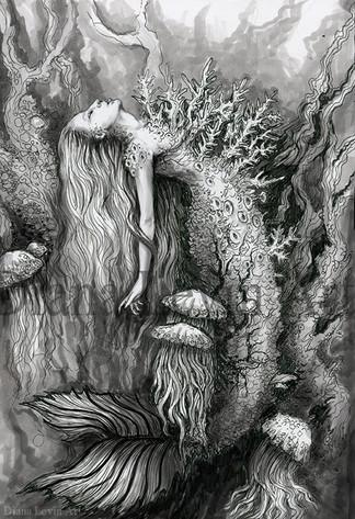 Dark Mermaid Art
