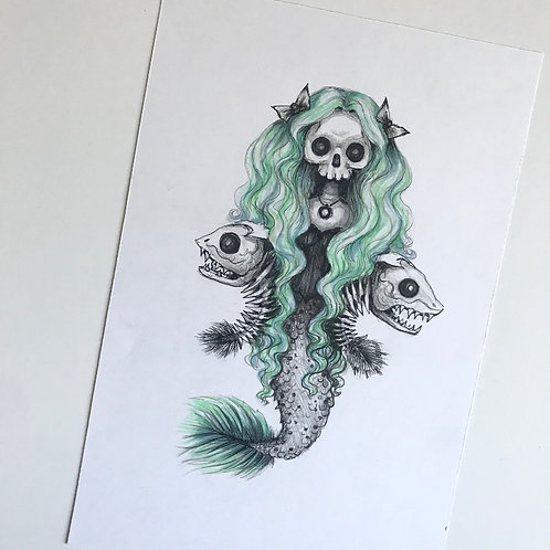 Skelemaid Original Drawing