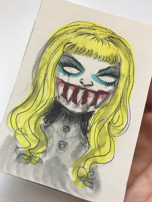 Clownface - Mini Original Sketchcard