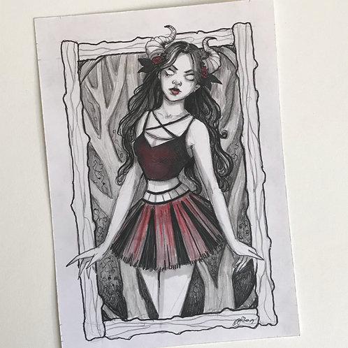 Demon Girl Original Drawing