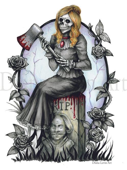"My Beloved - Haunted Mansion 11"" x 14"" Art Print"