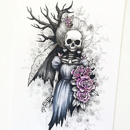 Matron of Dishonor Skully Original Drawing