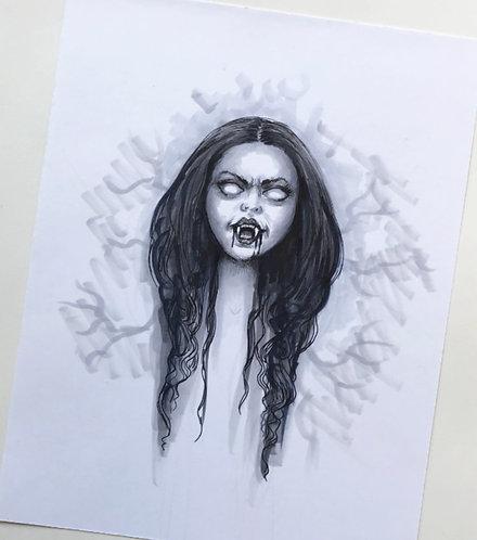 Vampire Original Drawing