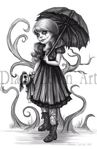 Alysin Gothic Girl Art