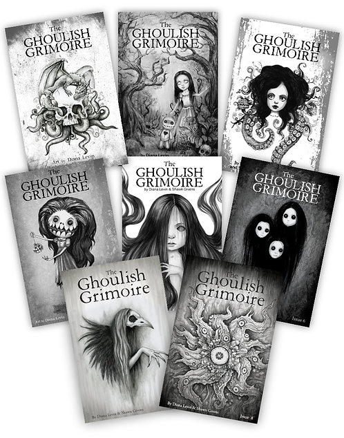 Ghoulish Grimoire Horror Anthology Short Story Series Scary