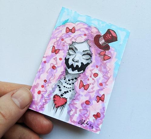 Creepy Clown Original Sketchcard