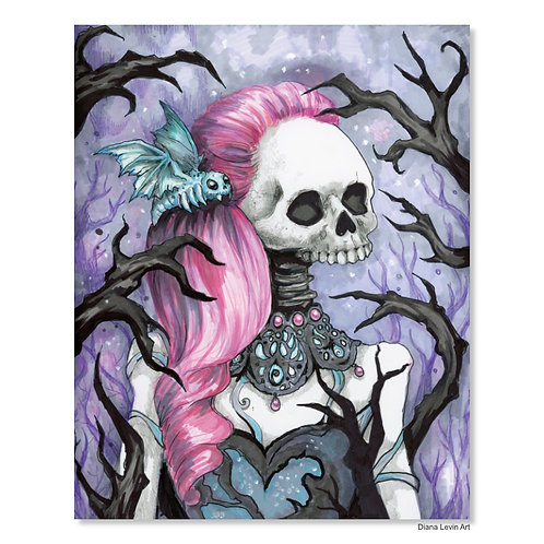 """Marydeath the Goth- 11"""" x 14"""" Art Print"""
