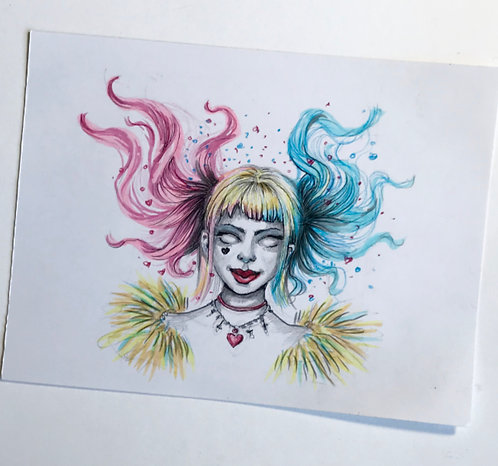 Harley Quinn Original Drawing