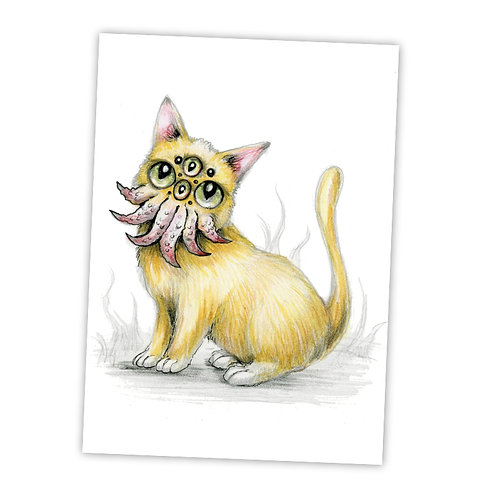 "Cosmo Cat  5"" x 7"" Art Print"