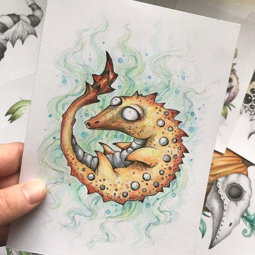 That Seahorse Life Original Drawing