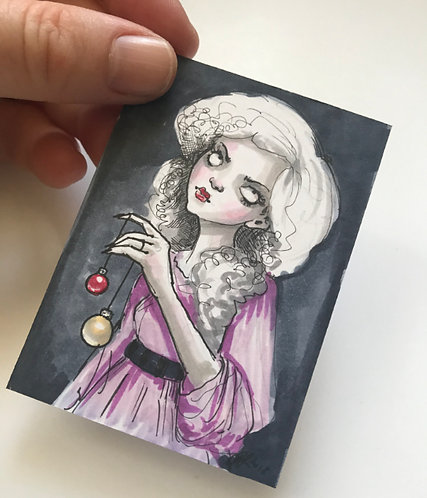 Trish - Mini Original Sketchcard