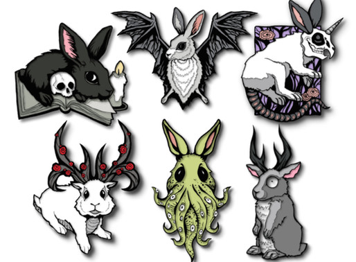 Grim Rabbits Enamel Pin Kickstarter Launches in March