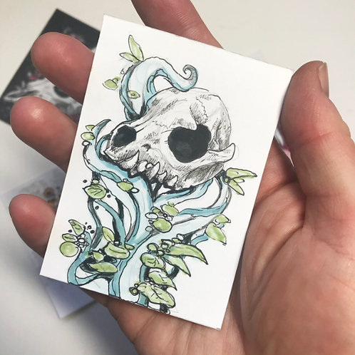The Offering- Mini Original Sketchcard