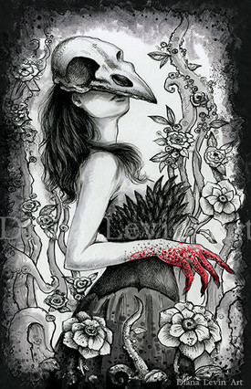 Ravena Gothic Pen and Ink Drawing