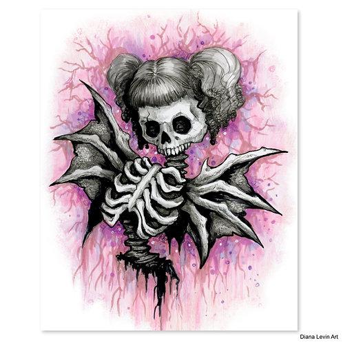 "Chaotica Skully- 8"" x 10"" Art Print"