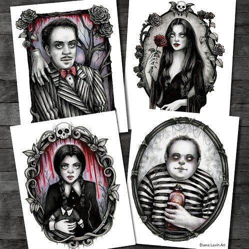 "Addams Family 11"" x 14"" Print Set"