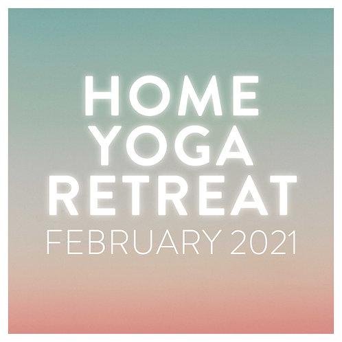 HOME YOGA RETREAT FEBRUARY