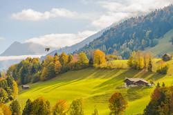 Swiss alps in Autumn