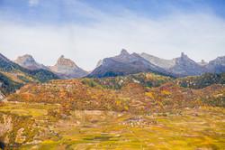 Valais vineyard autumn Switzerland