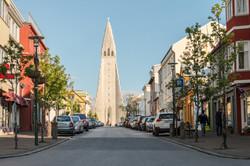 Reykjavik and church Hallgrimskirkja