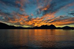 Sunrise by Lago Maggiore