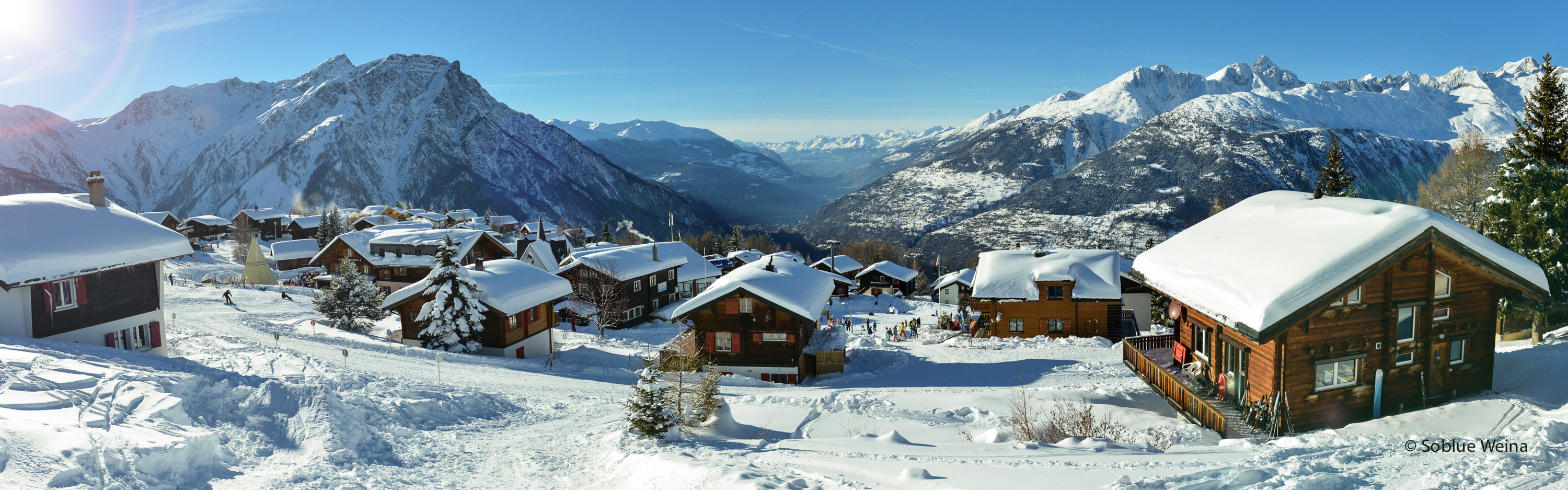 Rosswald in Winter, Valais