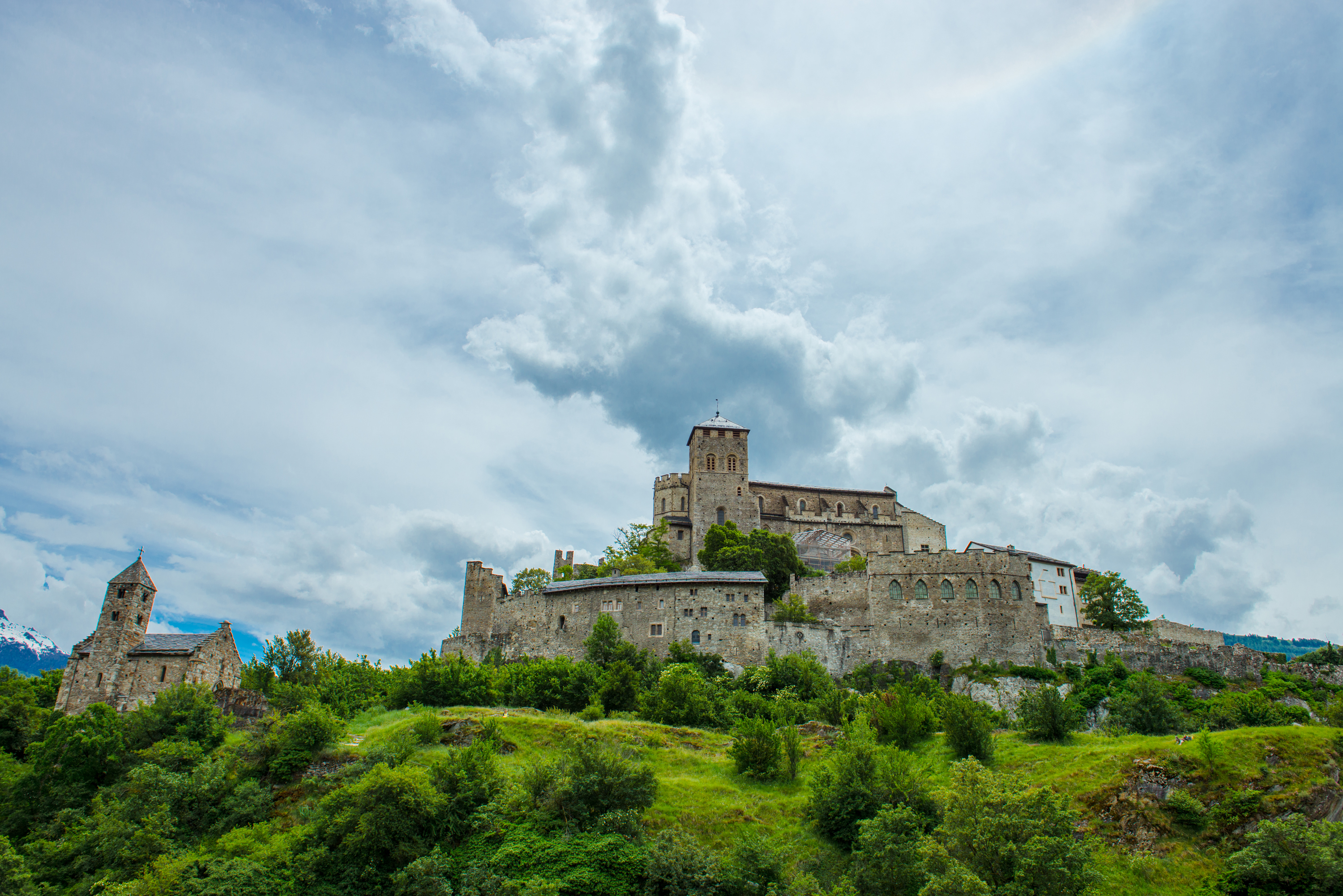 The castles of Valère, Sion, Valais